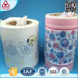 Fábrica da matéria- prima do tecido do bebê da película do PE da laminação em Fujian