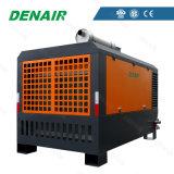 Patim Diesel compressores de ar montados para o Sandblasting/pintura de pulverizador/indústria da construção civil