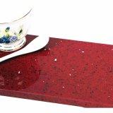 Steen van het Kwarts van het kristal de Rode voor de Bovenkanten van de Keuken van de Badkamers