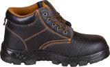 Pattino di sicurezza dei sandali con la tomaia del cuoio della pelle scamosciata o del cuoio spaccato
