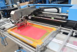 Печатная машина экрана 2 лент эластика цветов автоматическая