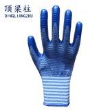 перчатки безопасности нитрила полиэфира 13G Coated с Зебр-Нашивкой
