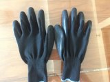 高品質13Gのナイロンやししわの乳液の安全手袋