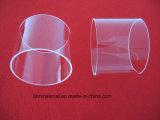 Haute température bride en verre de quartz fondu clair