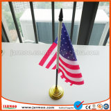Turismo bandeira bandeira de mesa com suporte de plástico