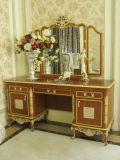 Coleção cinzelada do quarto da base da madeira contínua da prata do estilo de E50 Italy tampa real clássica