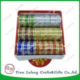 クリスマスの装飾のための良質の印刷の金ヤーンのギフトのリボン