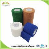 綿の試供品の最もよい品質は伸縮性がある凝集の包帯を遊ばす