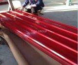 Galvanisé prélaqué tuile de toit en acier de couleur matériau ondulé