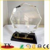 Hot trophée en acrylique transparent de souvenirs de vente