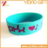 Silicones en caoutchouc Baracelet de bracelet de ventes de couleur d'impression rose chaude de Cmyk/bracelet de silicones (YB-WT-CD)
