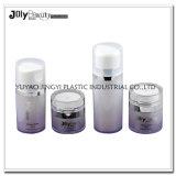 estetica di lusso trasparente 50ml che impacca la bottiglia di plastica senz'aria pp della pompa