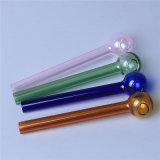 Tubulação colorida de vidro da mão da tubulação de vidro da colher da tubulação de fumo da tubulação