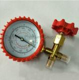 プラスチックハウジングおよびT継手のステンレス鋼の圧力計との70mm