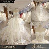 Neues Ballkleid-Hochzeits-Kleid des Satin-2017 mit trägerlosem