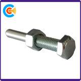 鋼鉄ナットが付いているM5によって電流を通される六角形の六角頭のボルト