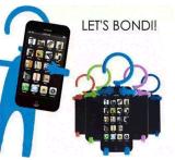 Sostenedor flexible del teléfono celular del silicón, sostenedor que cuelga, sostenedor de carga del teléfono celular del teléfono móvil