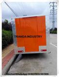 Auto van het Roomijs van het fiberglas de Mobile Food Van Restaurant Carvan voor de Markt van Saudi-Arabië