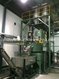 Transportador de tornillo con el polvo a la máquina del mezclador/del estirador