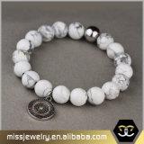 Großhandelsausdehnungs-wulstiges Armband für Frauen, Steinraupe-Armband Mjb020