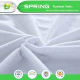Não Noisy novo toalha Terry impermeável a tampa do protector de colchão de algodão Cama Montado
