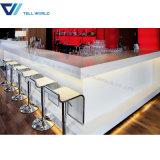 Compteur moderne blanc de barre de restaurant de Corian DEL