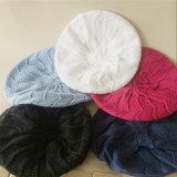 Связанные женщины греют берет шлема крышки кабеля зимы лета весны переплетенный осенью (HW110)
