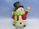 Vaso di biscotto di ceramica Pupazzo di neve-A forma di per la decorazione di natale