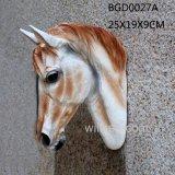 白い現代様式の樹脂の壁の装飾的な馬ヘッド壁の芸術