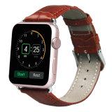Única faixa de relógio do bracelete da faixa do couro da excursão para o relógio de Apple