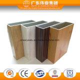 Double rail coulissant des graines en bois pour la porte coulissante en aluminium