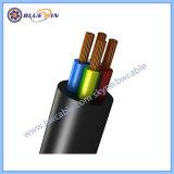 Elektro Kabel van de Macht van de Kabel van de Draad Elektrische 2 Prijzen In drie stadia van de Draad en van de Kabel van pvc van 3 4 Kernen de vlak Flexibele Flex per de Kabel van het Koper van de Namen en van de Grootte van de Meter