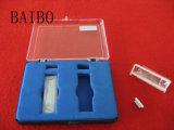 Cubeta de cuarzo transparente con tapa