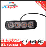 4 LED 3W assottigliano l'indicatore luminoso di superficie dello stroboscopio del supporto