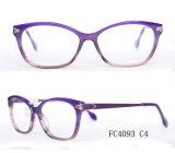 Frame ótico de quatro Eyeglasses elegantes da mulher do acetato da cor