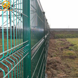 Rete fissa verde rivestita del reticolato di saldatura di Clearvu della polvere del cantiere di sconto di 10%