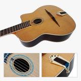 Trou ovale Aiersi solide haut Tsigane de cèdre de la guitare acoustique