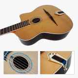 Aiersiの楕円形の穴の固体ヒマラヤスギの上のジプシーのアコースティックギター