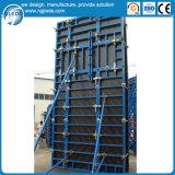El bastidor de acero modular del sistema de encofrado de hormigón