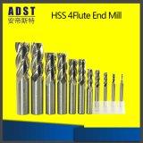 Las flautas sólidas del carburo 4 ajustan el molino de extremo con las herramientas que muelen
