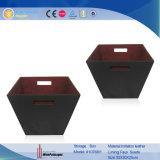 Popular negro cuero pu hechos a mano la caja de almacenamiento (1076R1)