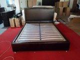 침실 세트를 가진 편평한 왁스 가죽 침대