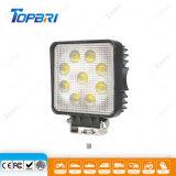 27W квадратные светодиодные прожекторы направленного света для автомобиля 4X4 просёлочных дорог