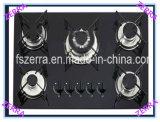 Cucina nera del gas del fornello di vetro Tempered (JZG95001B)