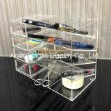 アクリルの4棚の事務用品の机のオルガナイザー