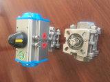 Certificado de Kc Thread/Braçadeira/Soldar/Flange 3PC Válvula de Esfera Pneumática