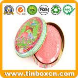 Овальная коробка олова мыла подарка для косметического металла может упаковывающ