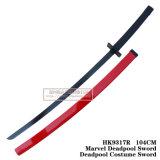 Espada 104cm HK9317A/HK9317r do traje de Deadpool da espada de Deadpool da maravilha