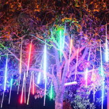 Indicatori luminosi leggiadramente della stringa di meteora dell'acquazzone della pioggia dei tubi LED di natale del biglietto di S. Valentino della decorazione chiara solare di cerimonia nuziale
