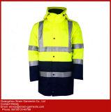 Casaco de Inverno de alta visibilidade laranja revestimento almofadado Vestuário Vestuário PPE o vestuário de trabalho (W432)